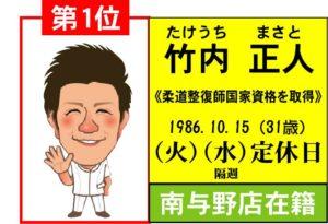 1位(竹内)